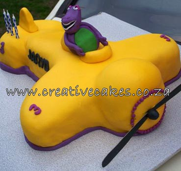 cars cake design. Barney Cake Design