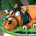 brown-horse-cake